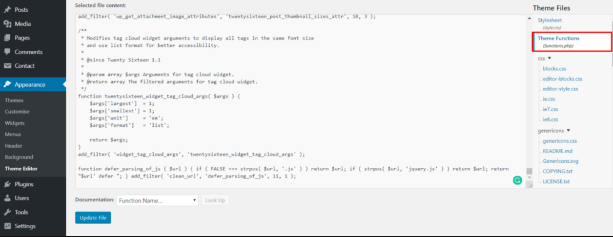 open theme editor to defer parsing of javascript